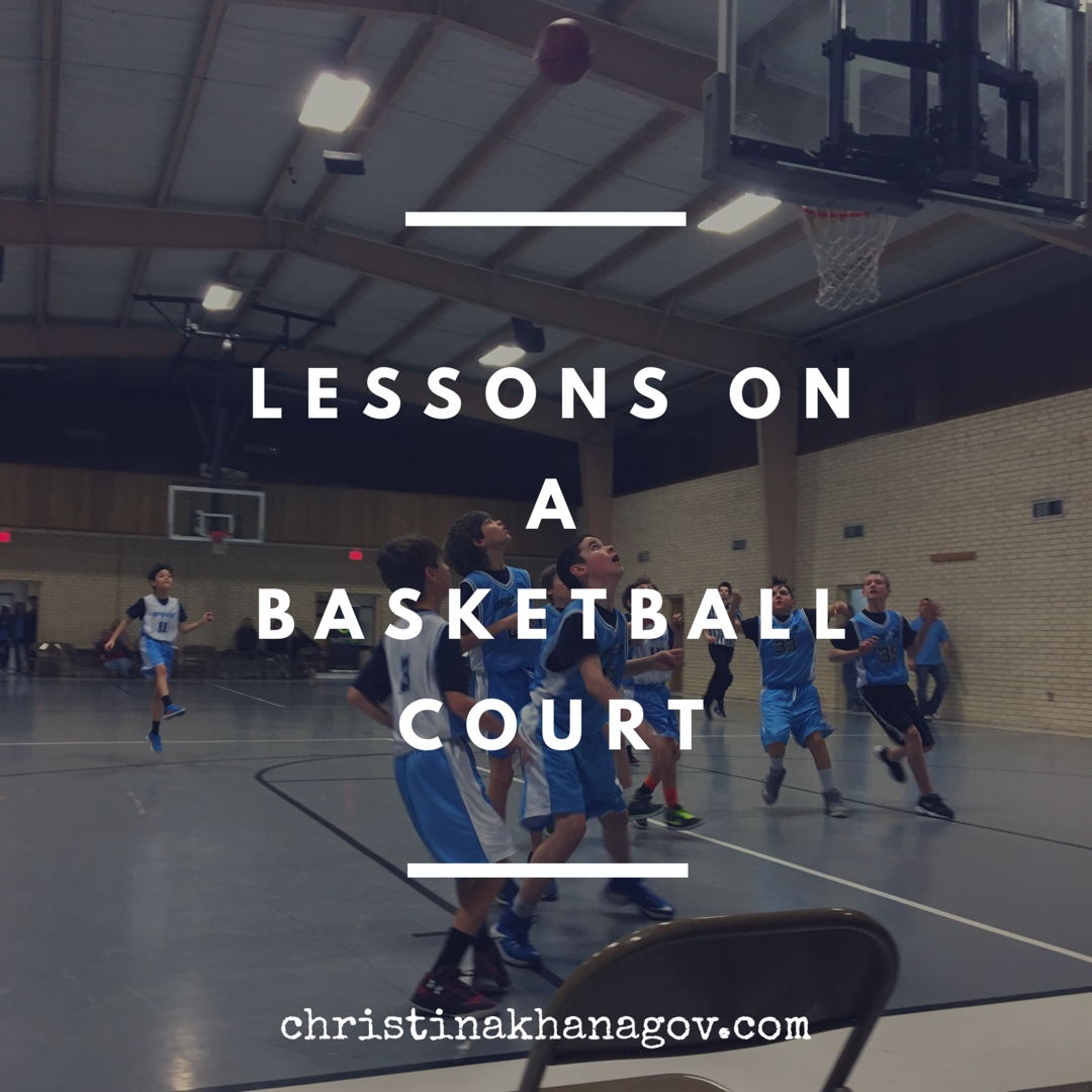 lessons on a basketball court